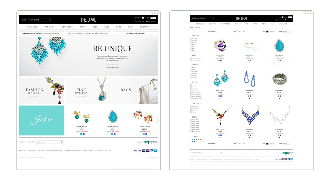 The Opal | Magento eCommerce store
