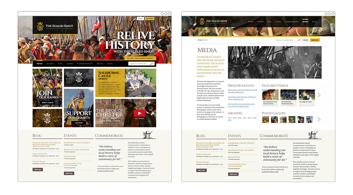 The Sealed Knot | Drupal Web Design