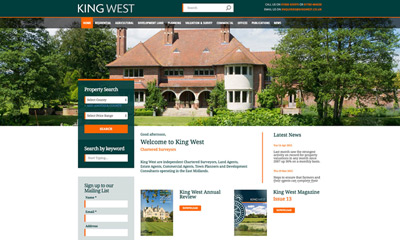 Our Work | King West | Drupal CMS with Rightmove integration