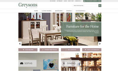 Our Work | Greysons Furniture | Magento eCommerce