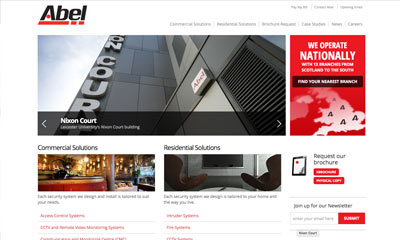 Our Work | Abel Alarm company | Drupal CMS